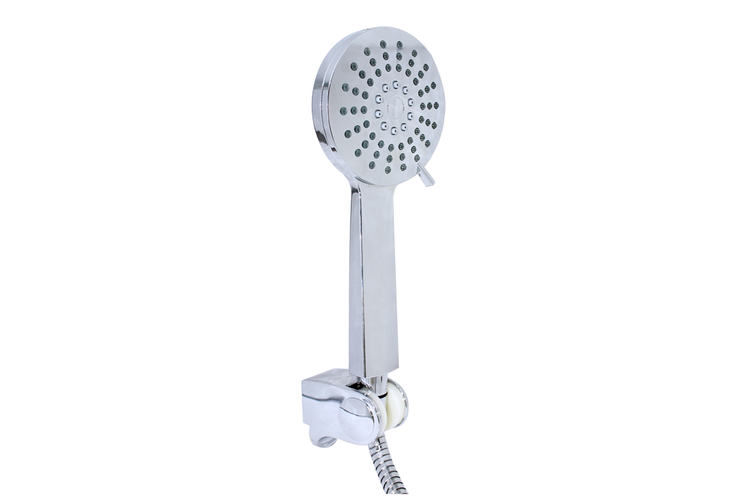 HAND SHOWER, 1.5m STAINLESS STEEL FLEXIBLE HOSE & ADJUSTABLE HOLDER
