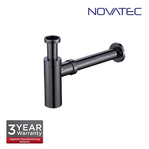 Novatec 32mm Stainless Steel 304 In Matt Black Finish Bottle Trap BBT-32DR-SSBL