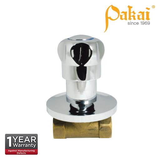 Pakai Crown Knob Handle Brass Quarter Turn Concealed Stop Valve