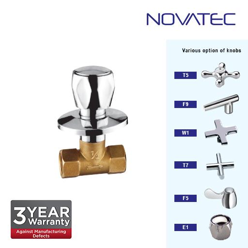 Novatec 1/2 Inch Concealed Quarter Turn Stopcock E1-1117-QT