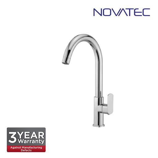 Novatec Quarter Turn Pillar Sink Tap With Swive Spout FA2129