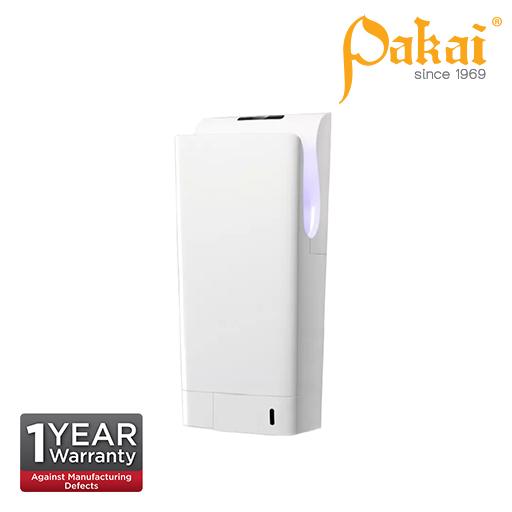 Pakai Automatic Dual Jet Hand Dryer wt UV Sterilization Light - WHITE Filter : HEPA Filter Rated pow