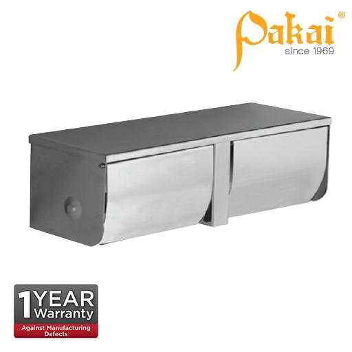 Pakai Satin Stainless Steel Surface Mount Double Paper Holder SSTPH3910