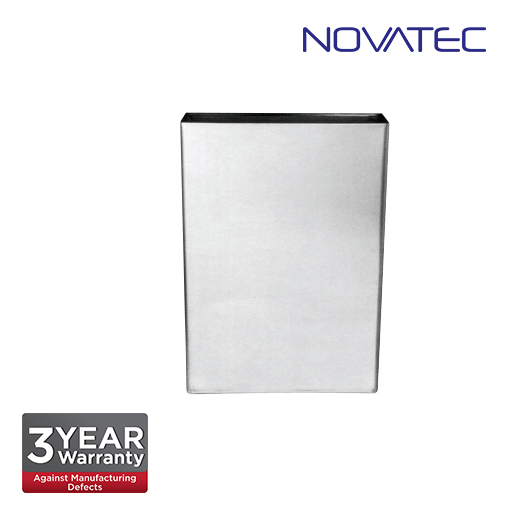 Novatec Stainless Steel Surface-Mounted Waste Receptacle SS-REC-460-EX