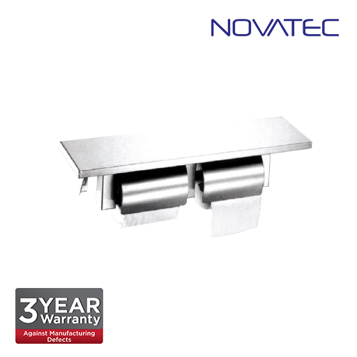 Novatec Stainless Steel Surface Mounted Double Toilet Paper Holder SS-TTD-D-457