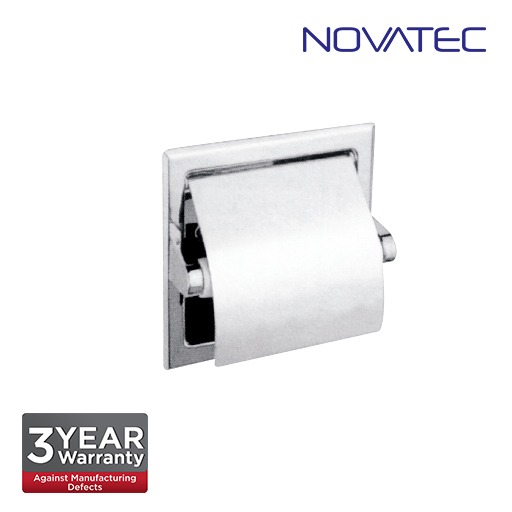 Novatec Stainless Steel Semi Recessed Toilet Roll Holder SS-TTD-S-RS